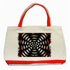 Zombie Apocalypse Warning Sign Classic Tote Bag (Red)