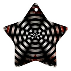Zombie Apocalypse Warning Sign Star Ornament (Two Sides)