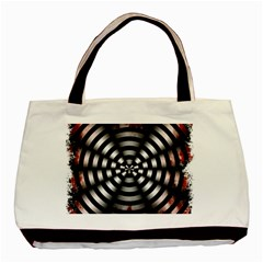 Zombie Apocalypse Warning Sign Twin Sided Black Tote Bag