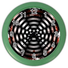 Zombie Apocalypse Warning Sign Wall Clock (color)