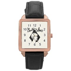 Vintage Beauty  Rose Gold Leather Watch