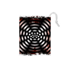 Zombie Apocalypse Warning Sign Drawstring Pouch (Small)