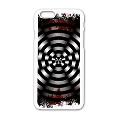 Zombie Apocalypse Warning Sign Apple iPhone 6 White Enamel Case