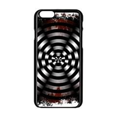 Zombie Apocalypse Warning Sign Apple Iphone 6 Black Enamel Case
