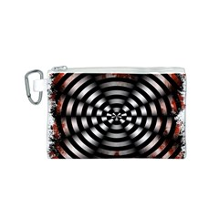 Zombie Apocalypse Warning Sign Canvas Cosmetic Bag (Small)