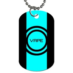 Turquoise Lines Vape   Dog Tag (two Sided)