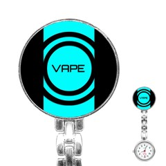 Turquoise Lines Vape   Stainless Steel Nurses Watch