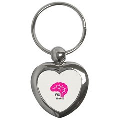 All Brains Leather  Key Chain (heart)