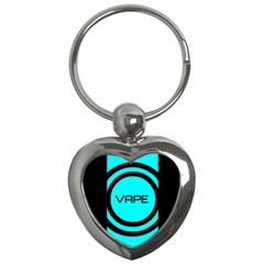 Turquoise Lines Vape   Key Chain (heart)