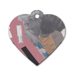 Clarissa On My Mind Dog Tag Heart (two Sided)
