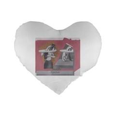 Marushka Standard Flano Heart Shape Cushion