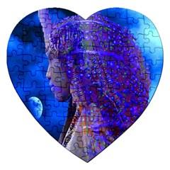 Moon Shadow Jigsaw Puzzle (heart)