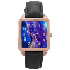 Moon Shadow Rose Gold Leather Watch