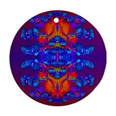 Abstract Reflections Round Ornament