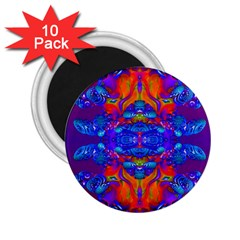 Abstract Reflections 2 25  Button Magnet (10 Pack)