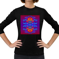 Abstract Reflections Women s Long Sleeve T-shirt (Dark Colored)