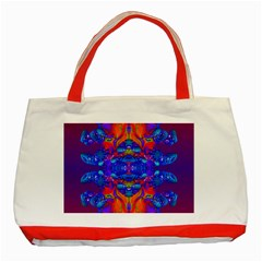 Abstract Reflections Classic Tote Bag (Red)