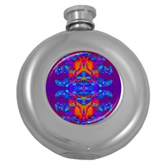 Abstract Reflections Hip Flask (round)