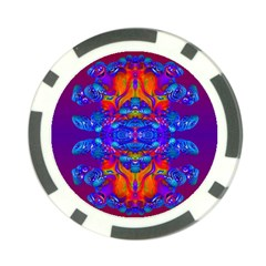 Abstract Reflections Poker Chip