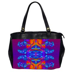 Abstract Reflections Oversize Office Handbag (two Sides)