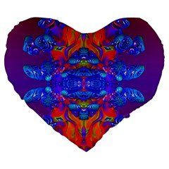 Abstract Reflections 19  Premium Heart Shape Cushion