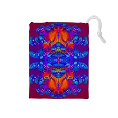 Abstract Reflections Drawstring Pouch (Medium)