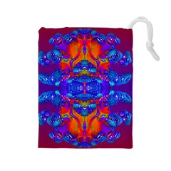 Abstract Reflections Drawstring Pouch (Large)