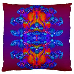 Abstract Reflections Large Flano Cushion Case (one Side)