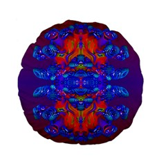 Abstract Reflections Standard Flano Round Cushion