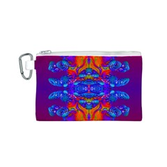 Abstract Reflections Canvas Cosmetic Bag (Small)