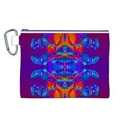 Abstract Reflections Canvas Cosmetic Bag (Large)