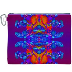 Abstract Reflections Canvas Cosmetic Bag (XXXL)