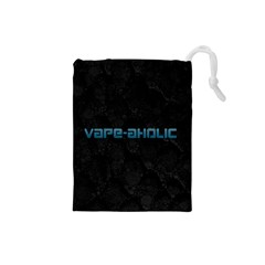 Vape Aholic Turquoise  Drawstring Pouch (Small)