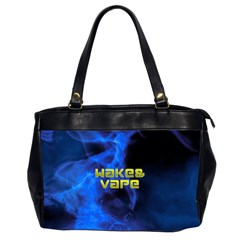 Wake&vape Blue Smoke  Oversize Office Handbag (two Sides)