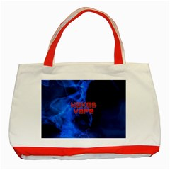 Wake&vape Blue Smoke  Classic Tote Bag (Red)