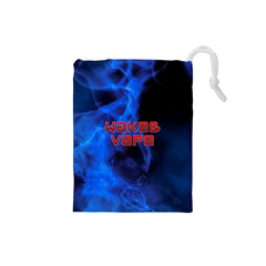 Wake&vape Blue Smoke  Drawstring Pouch (small)