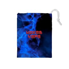 Wake&vape Blue Smoke  Drawstring Pouch (Medium)