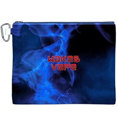 Wake&vape Blue Smoke  Canvas Cosmetic Bag (xxxl)