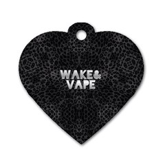 Wake&vape Leopard  Dog Tag Heart (two Sided)