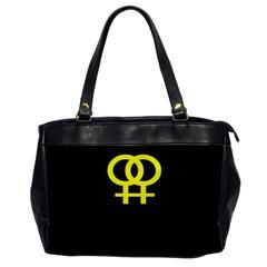 Girl<3 Girl  Oversize Office Handbag (one Side)