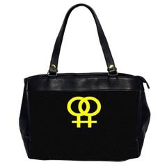 Girl<3 Girl  Oversize Office Handbag (two Sides)