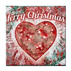 Vintage Colorful Merry Christmas Design Ceramic Tile