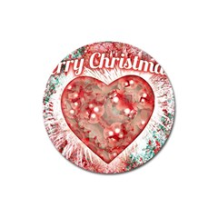 Vintage Colorful Merry Christmas Design Magnet 3  (round)