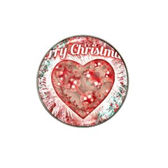 Vintage Colorful Merry Christmas Design Golf Ball Marker 4 Pack (for Hat Clip)