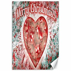 Vintage Colorful Merry Christmas Design Canvas 12  X 18  (unframed)