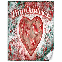 Vintage Colorful Merry Christmas Design Canvas 18  x 24  (Unframed)
