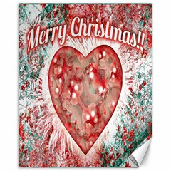 Vintage Colorful Merry Christmas Design Canvas 11  X 14  (unframed)