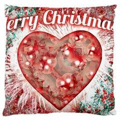 Vintage Colorful Merry Christmas Design Large Cushion Case (two Sided)