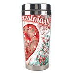 Vintage Colorful Merry Christmas Design Stainless Steel Travel Tumbler Right