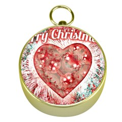 Vintage Colorful Merry Christmas Design Gold Compass